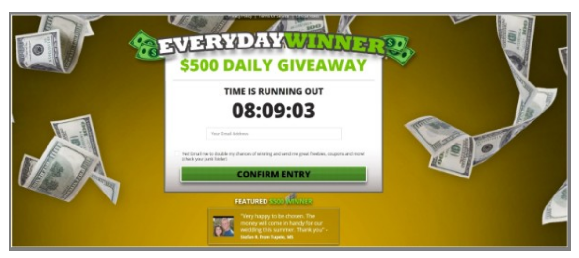 Get $500 with Everyday Winner!